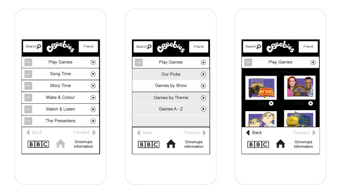 BBC CBeebies - taking content base mobile