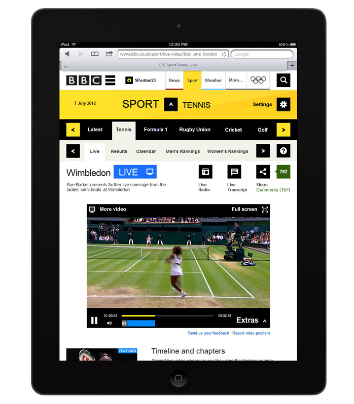 Responsive thoughts on BBC Sport