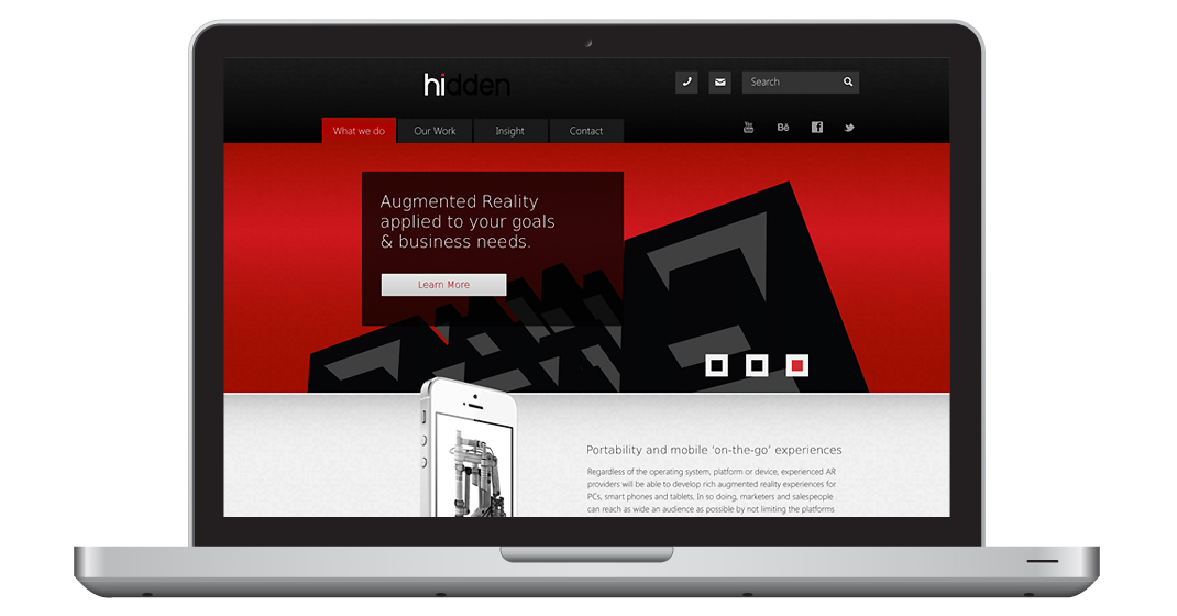 Hidden Creative Ltd Responsive Design concept