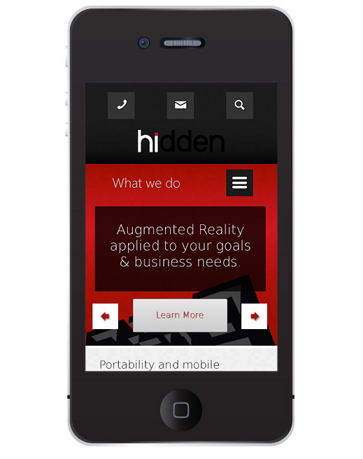 Hidden Creative Ltd Responsive Design concept - mobile