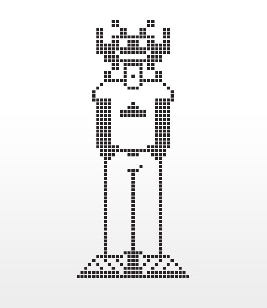 Pixel Invader illustration