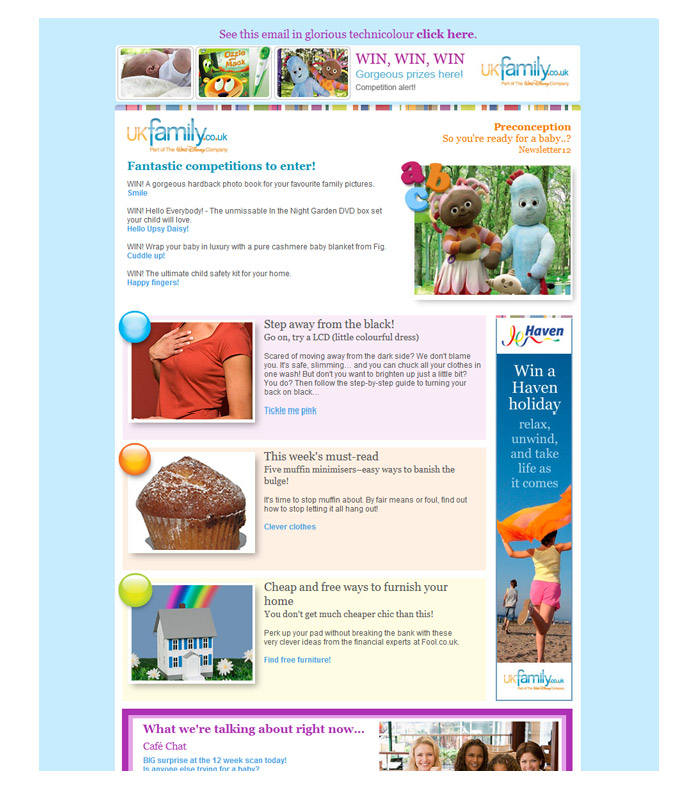 UKfamily weekly email for subscribers